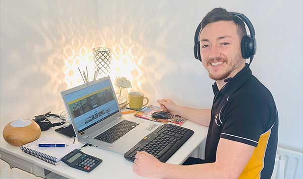 Danilo working from home