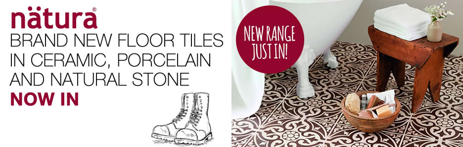 New range of ceramic, porcelain and natural stone tiles now in stock