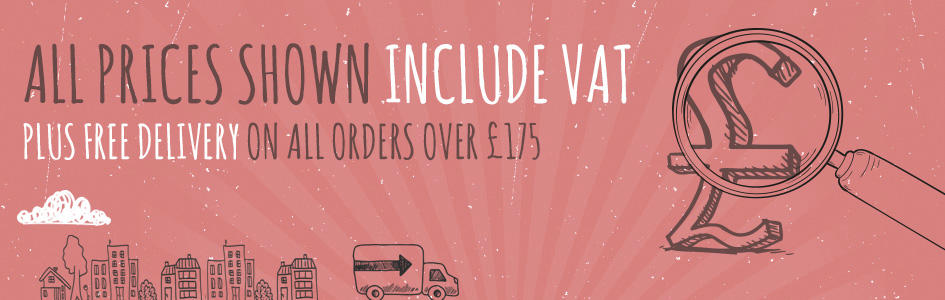 All our prices include VAT