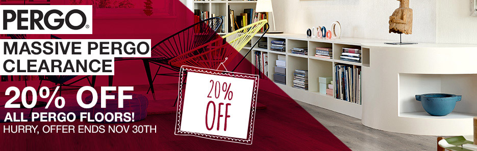 Massive Pergo Clearance - 20% Off All Pergo Laminate Floors! Hurry, While Stocks Last!