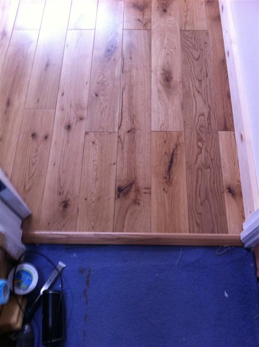 Solid Oak Carpet And Tile Reducer Trim