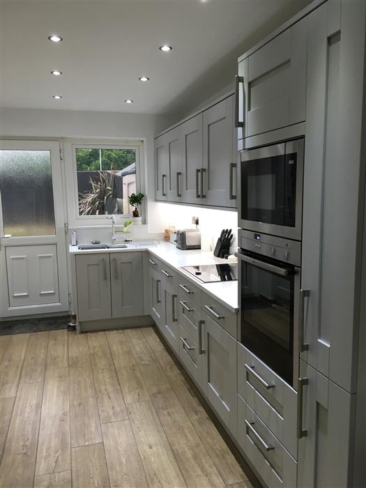 Quickstep impressive scraped oak grey brown for Kitchen 0 finance deals