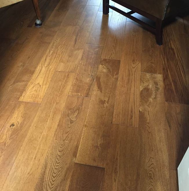 Solid European Oak Bronze Antique Wood Flooring