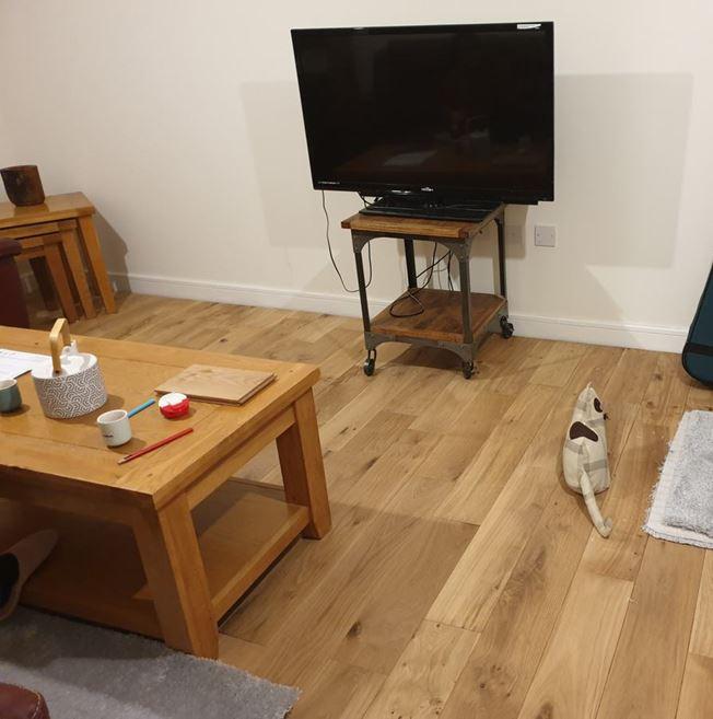Solid Oak Oiled Wood Flooring