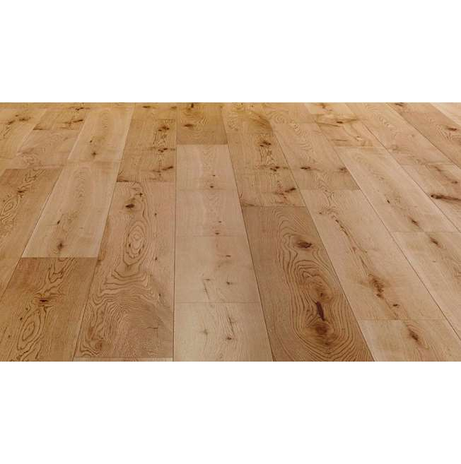 Natura Solid Oak Satin Lacquered Wood Flooring