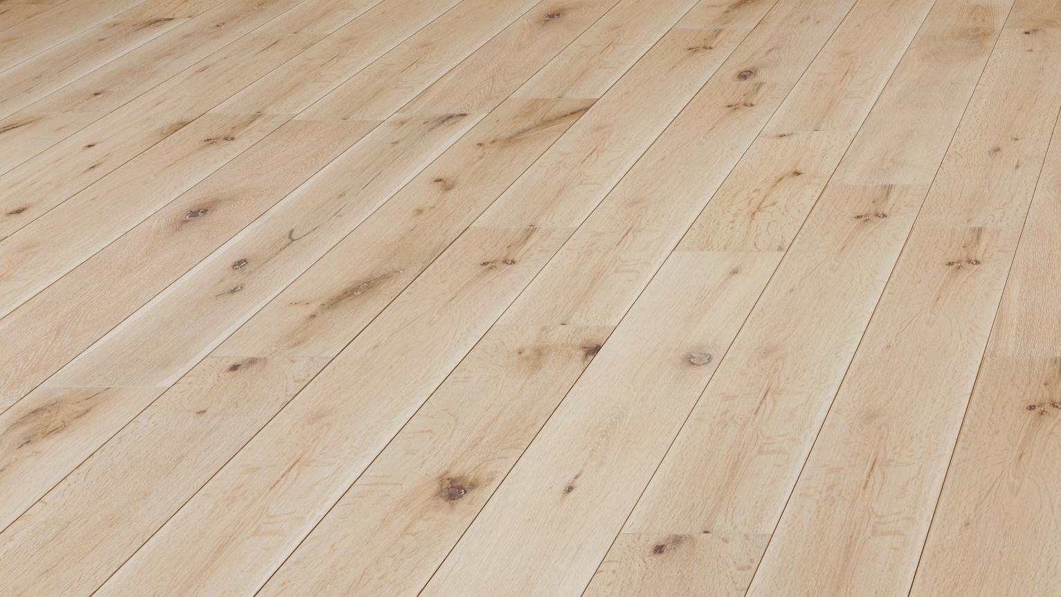 Natura Solid European Oak White Washed Wood Flooring