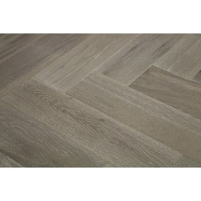 Natura Oak Clay Grey Herringbone Engineered Parquet
