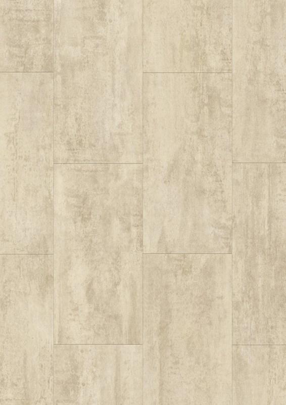Cream Gloss Kitchen Floor Tiles: Quickstep Livyn Ambient Cream Travertine AMCL40046 Vinyl