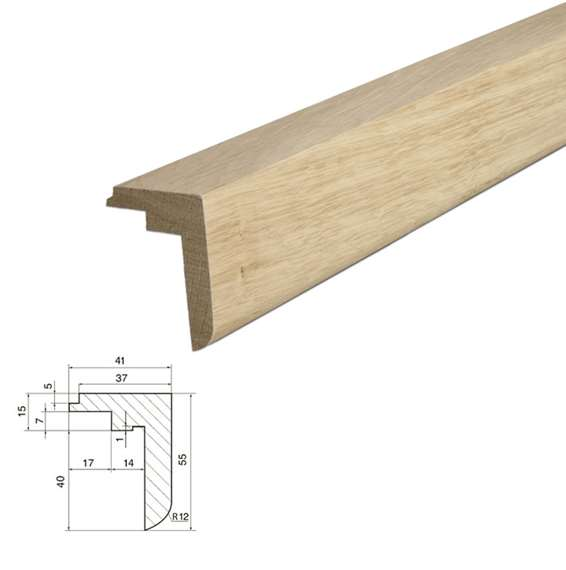 Natura Solid Oak Stairnosing with locking joint