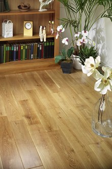 Natura 150mm Oak Lacquered Solid Wood Flooring