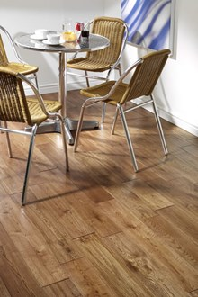 Natura 130mm Golden Oak Hand Distressed Solid Wood Flooring