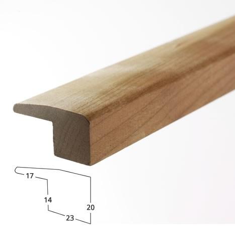Solid cherry edge trim for Floor edge trim