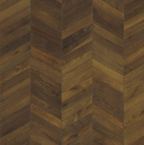 Kahrs oak chevron dark brown engineered wood flooring for Chevron laminate flooring