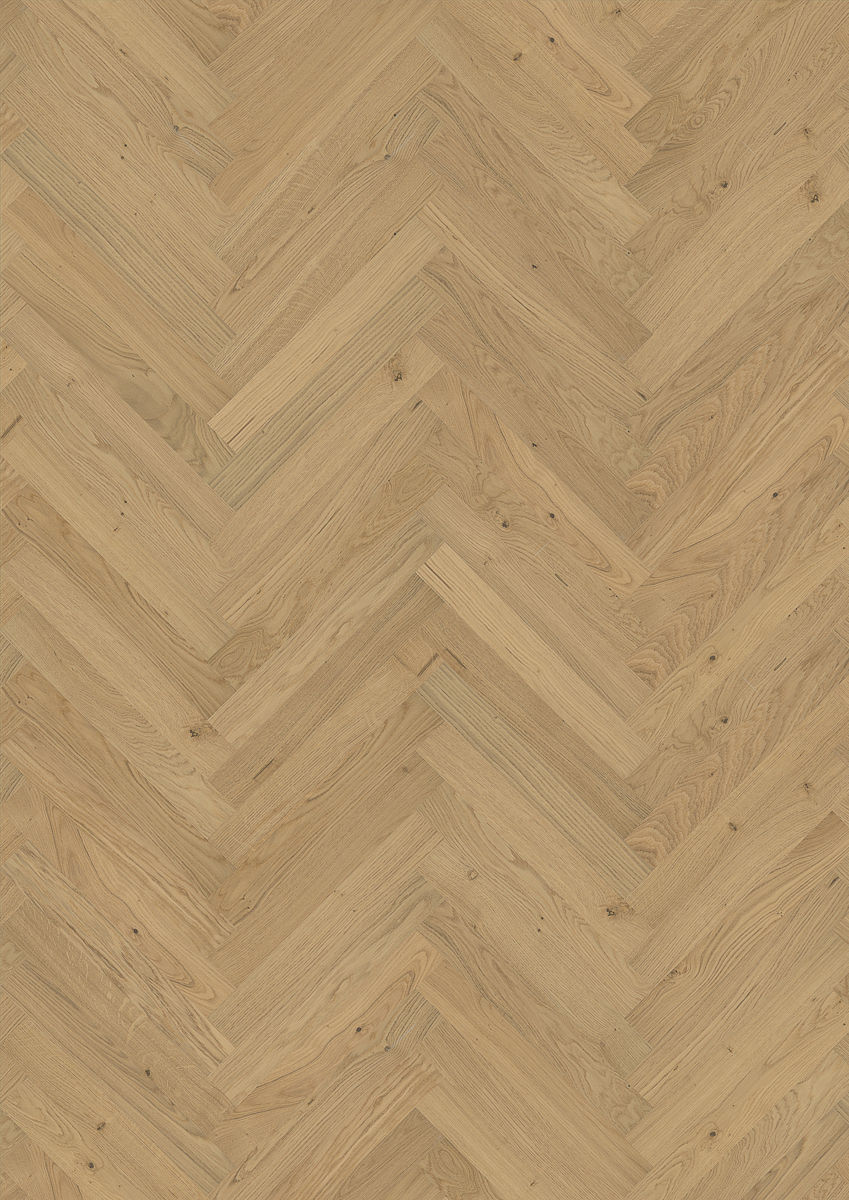 Kahrs oak herringbone ab natural engineered wood flooring for Natural oak wood flooring