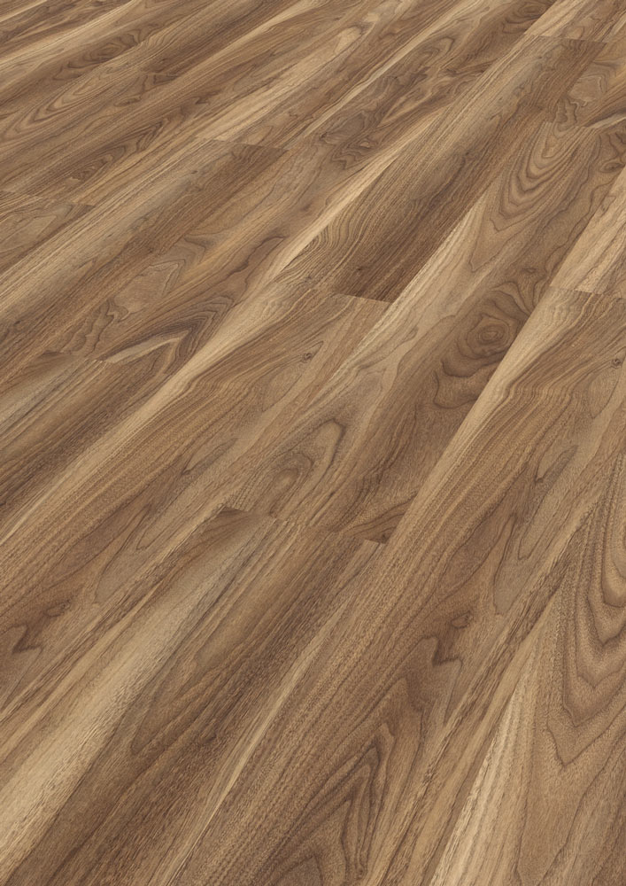 Kaindl natural touch varnished walnut laminate flooring for Walnut laminate flooring