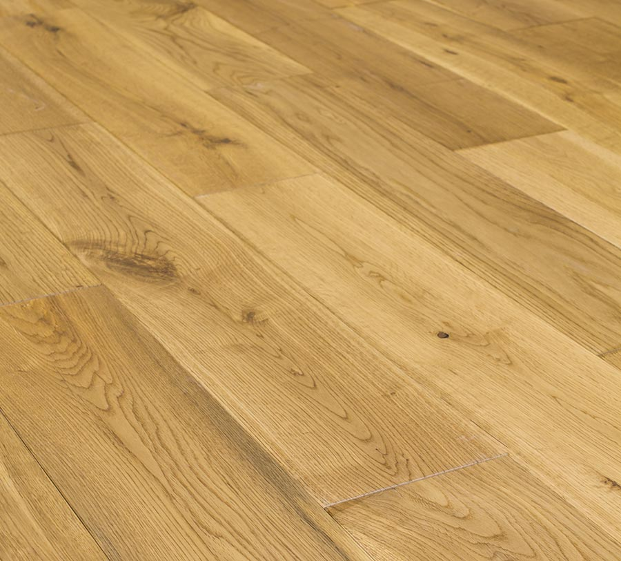 Natura 150mm european solid oak matt lacquered wood flooring for Real solid wood flooring