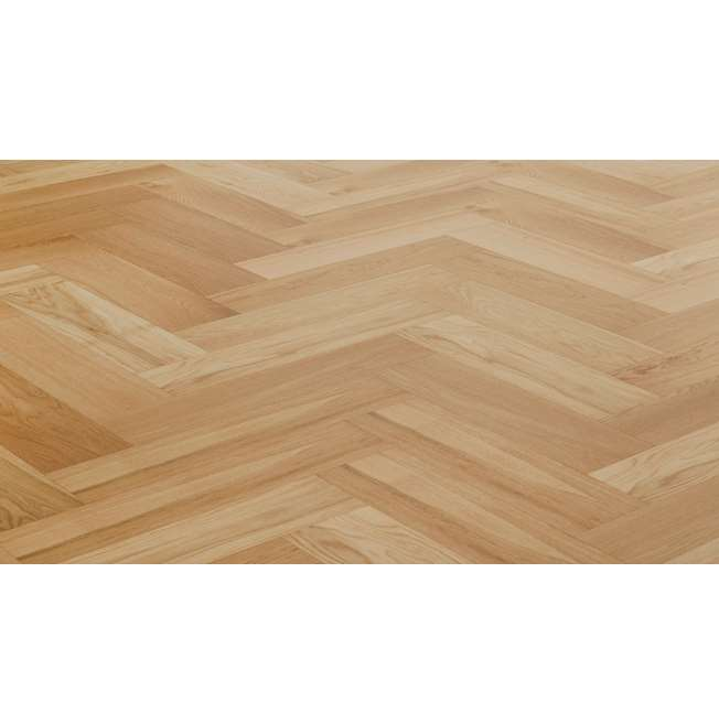 Natura Oak Brushed Matt Lacquer Herringbone Engineered Parquet