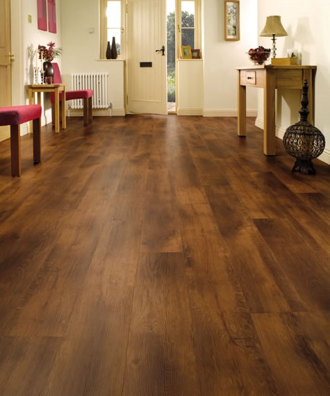 Karndean van gogh smoked oak vgw70t vinyl flooring for Vinyl laminate effect flooring