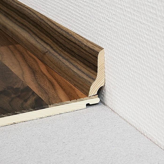 Kahrs oak herringbone ab white for Wood skirting