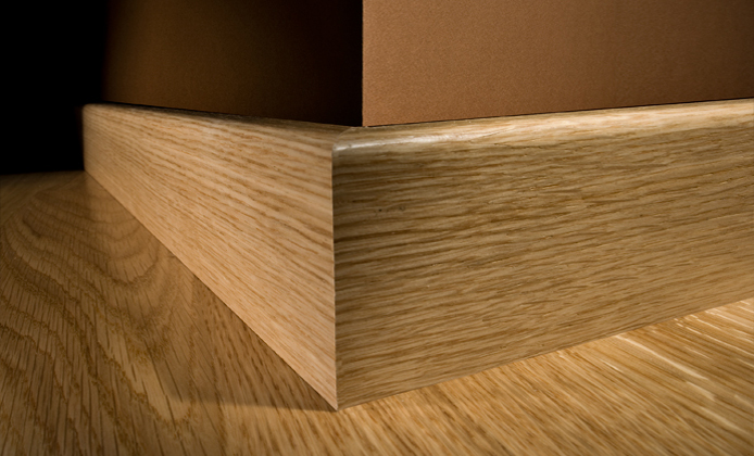 Natura by kahrs oak new cambridge engineered wood flooring for Wood skirting