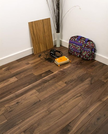 Natura 90mm Walnut Lacquered Solid Wood Flooring