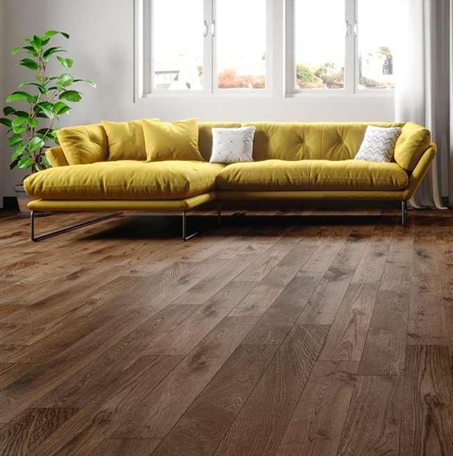 Natura Solid European Oak Fumed Antique Wood Flooring