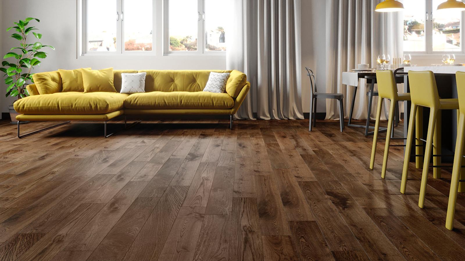 natura 150mm european solid oak fumed antique wood flooring