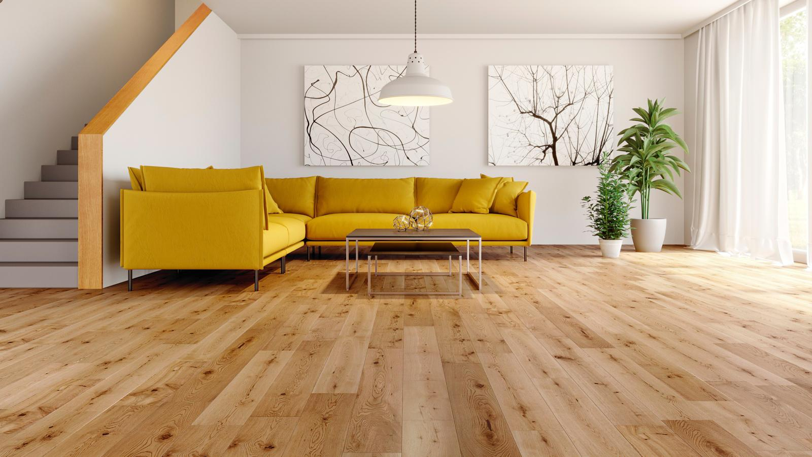 Natura european solid oak satin lacquered wood flooring for Real wood flooring