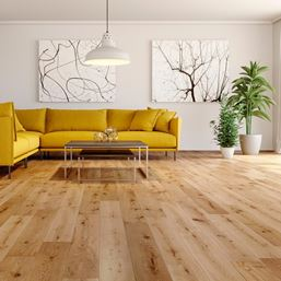 Solid Oak Satin Lacquered Wood Flooring