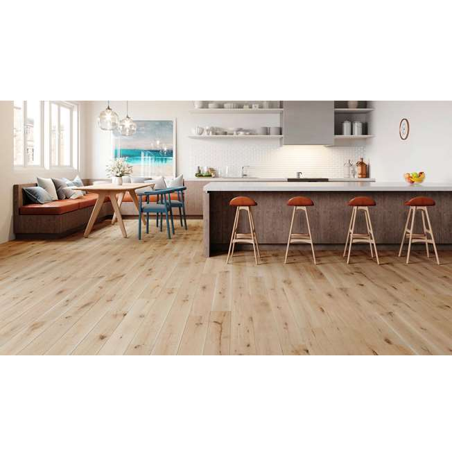Natura Solid European Oak White Washed Wood Flooring