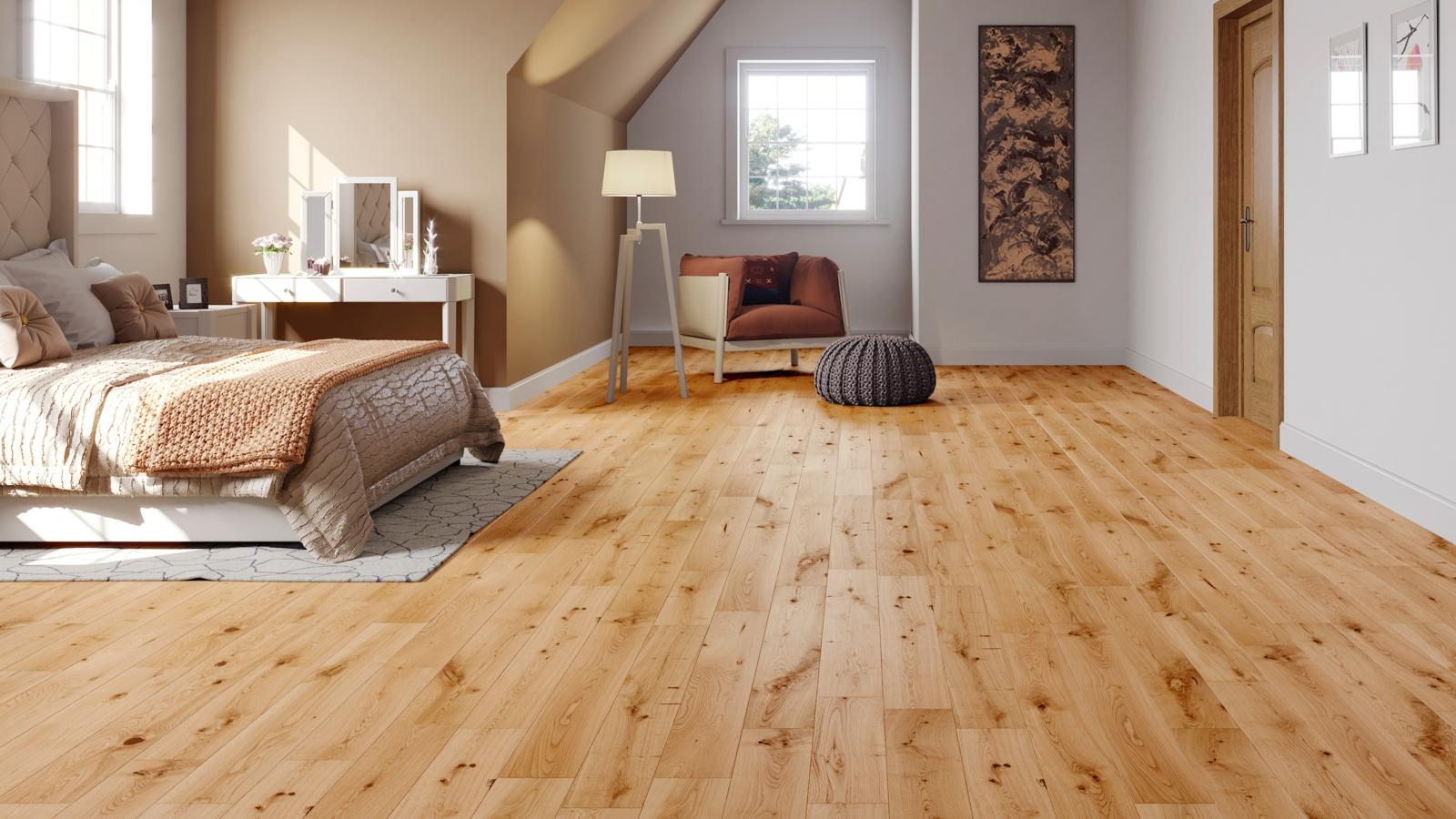 Natura Solid Oak Matt Lacquered Wood Flooring