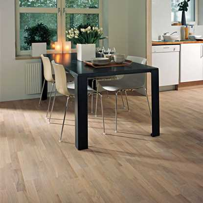 Kahrs 22mm Oak Mix 3-Strip White Matt Engineered Flooring