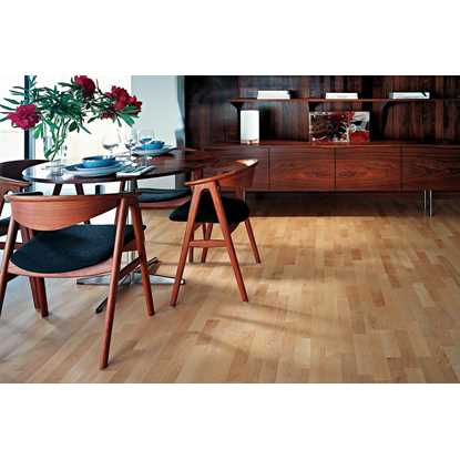 Kahrs 22mm Maple Mix 3-Strip Satin Lacquer Engineered Flooring