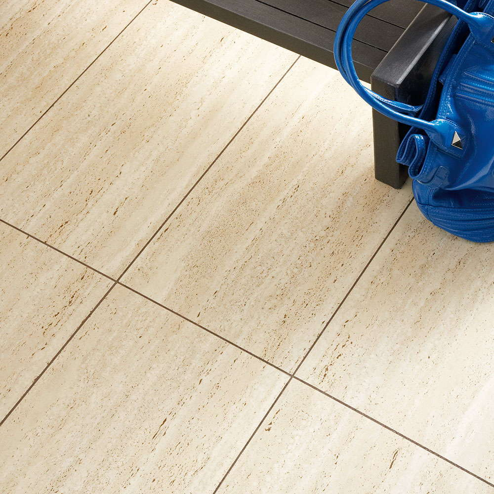 Polyflor camaro travertine 2304 vinyl flooring for Travertine laminate flooring