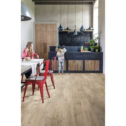 Quickstep Livyn Rigid Canyon Oak Light Brown Saw Cuts Vinyl Flooring