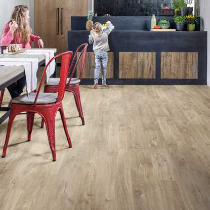 Quickstep Livyn Balance Canyon Oak Light Brown Saw Cuts Vinyl Flooring