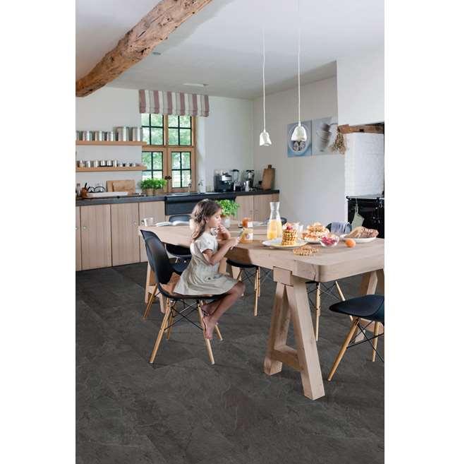 Quickstep Livyn Ambient Black Slate Vinyl Flooring