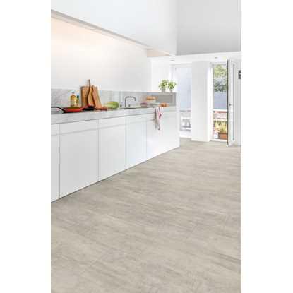 Quickstep Livyn Ambient Plus Light Grey Travertine AMCP40047 Vinyl Flooring