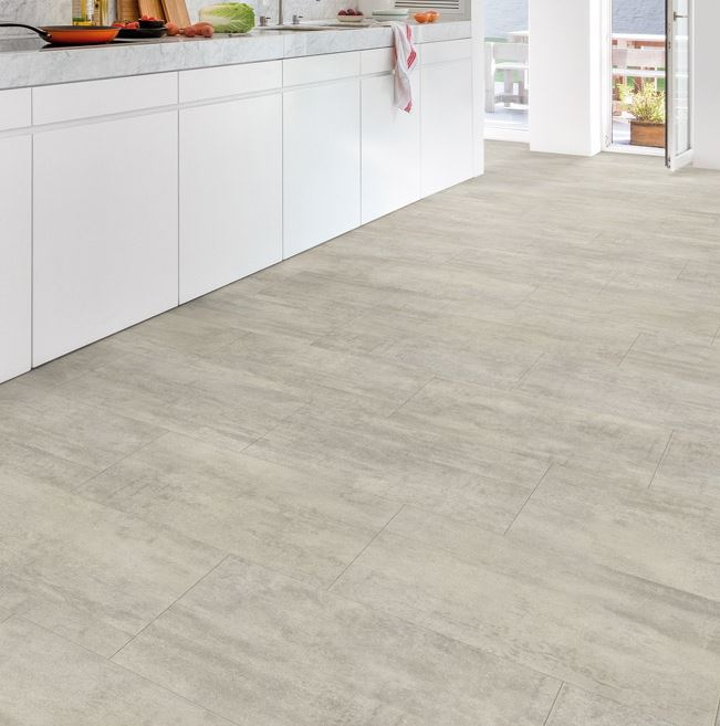 Quickstep Livyn Ambient Light Grey Travertine Vinyl Flooring