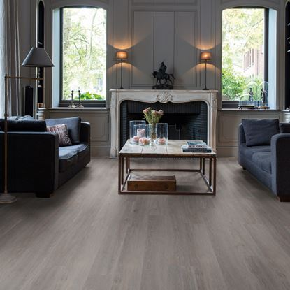 Quickstep Livyn Balance Silk Oak Dark Grey Vinyl Flooring