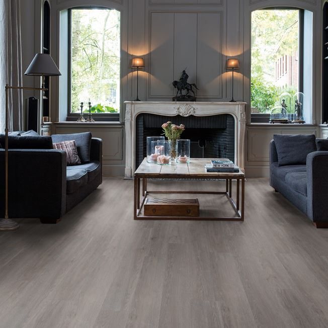 Quickstep Livyn Balance Silk Oak Dark Grey Vinyl Flooring