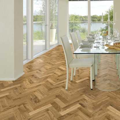 European Solid Oak Rustic Parquet Brushed Matt Lacquer Flooring
