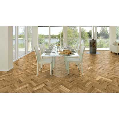 European Solid Oak Rustic Parquet Brushed and Oiled