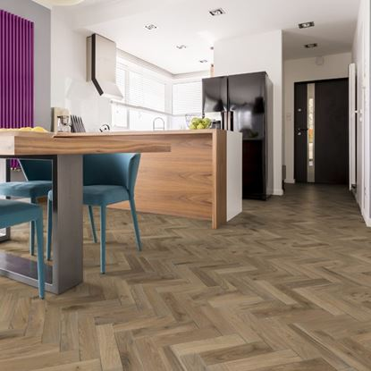 European Solid Oak Rustic Parquet Platinum Grey Brushed & Oiled Flooring