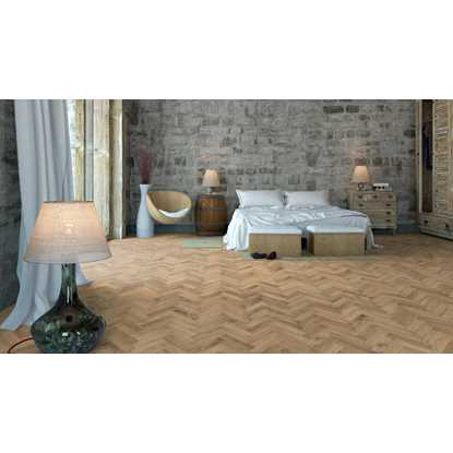 European Solid Oak Rustic Parquet Invisible Oil Flooring