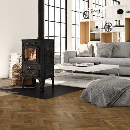 European Solid Oak Rustic Parquet Smoked Oil Flooring
