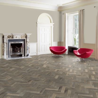 European Solid Oak Rustic Parquet Smoked White Oil Flooring