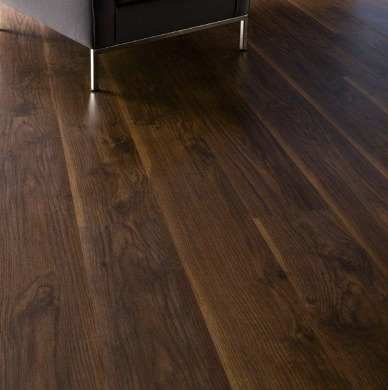 Kronospan kronofix 7mm virginia walnut laminate flooring for Walnut laminate flooring