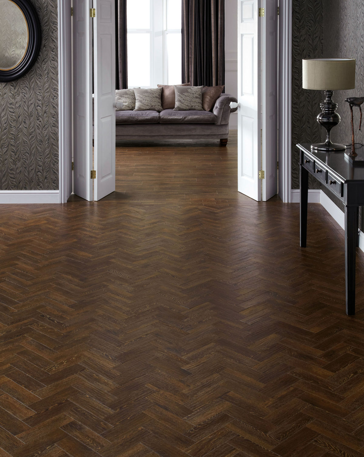 karndean art select sundown oak parquet ap04 vinyl flooring. Black Bedroom Furniture Sets. Home Design Ideas