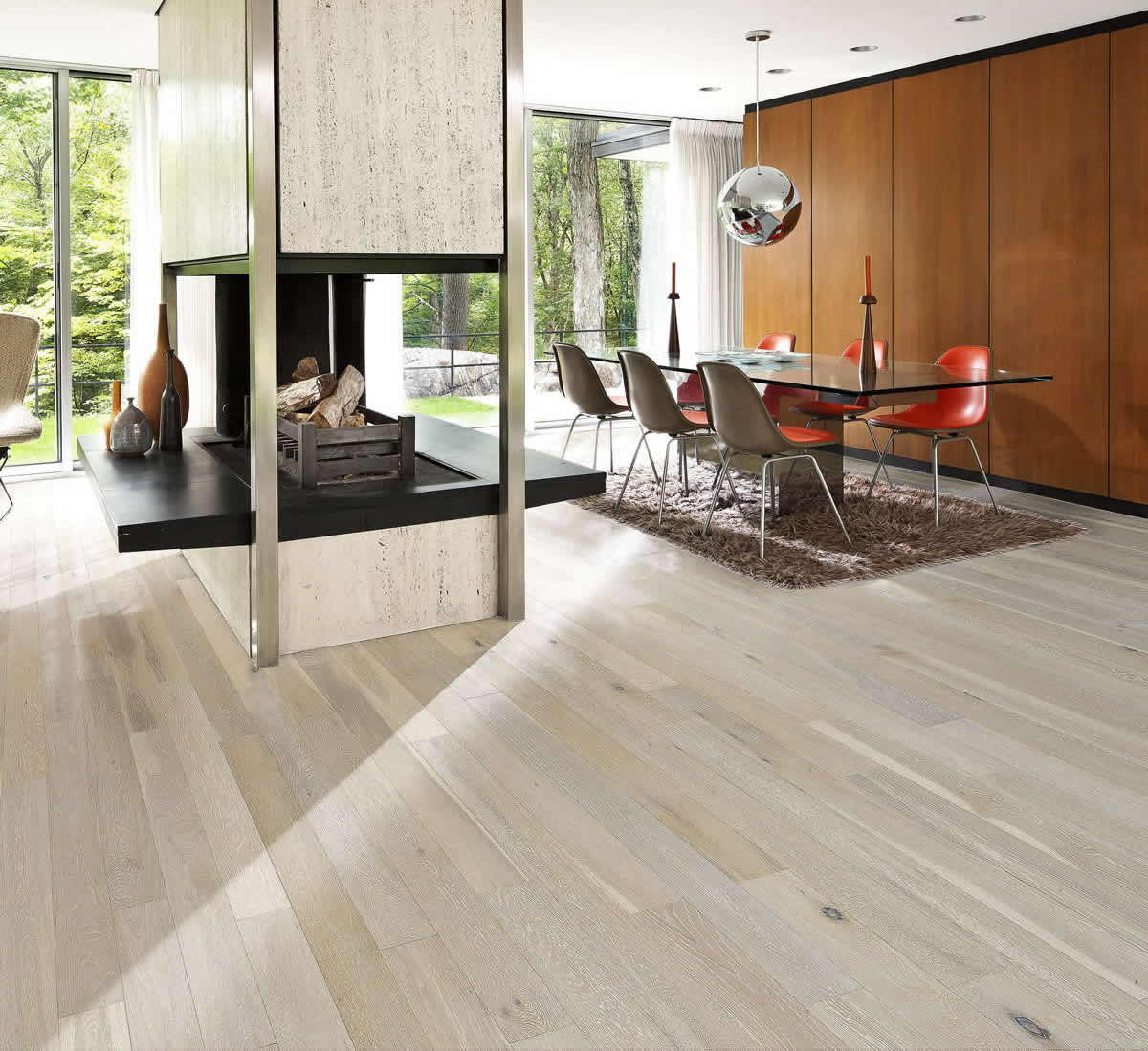 Kahrs Oak Arctic Engineered Wood Flooring - Oak Arctic Engineered Wood Flooring